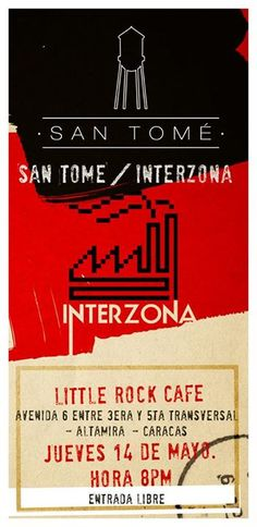"""Cresta Metálica Producciones » Little Rock Café presenta: """"San Tomé y Interzona"""" (Caracas) // 14 Mayo 2015"""