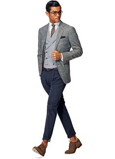 Suitsupply Jackets: We couldn't be more proud of our tailored jackets. Mens Fashion Suits, Men's Fashion, Fashion Menswear, Expensive Suits, Suit Supply, Smart Casual Men, Gentleman Style, True Gentleman, Casual Suit