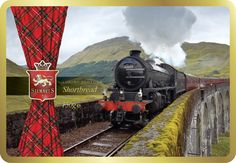 The Glenfinnan - Order Code 7570 A truly Scottish experience. Stewart's tartan adorns imagery of our famous Scottish landmarks & tradition. Crumbly Shortbread never tasted so patriotic!