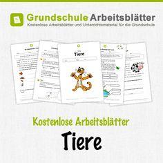 Kostenlose Arbeitsblätter und Unterrichtsmaterial für den Sachunterricht zum Thema Tiere in der Grundschule.