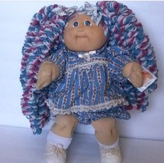 Vintage 1985 Custom Tapestry CABBAGE PATCH Kids Doll COLECO Signed , Vintage Baby Doll, Vintage Toy, 80's Toy, Vintage Cabbage Patch Kid by ThreeLegaciesVintage on Etsy https://www.etsy.com/listing/486259595/vintage-1985-custom-tapestry-cabbage