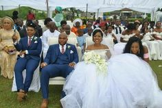 Lady Serves As Brothers Best Man In Wedding The Governor of Akwa Ibom & Other Dignitaries Attended (Photos)