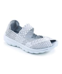 d203289f2e Look what I found on  zulily! Silver Peep-Toe Woven Mary Jane