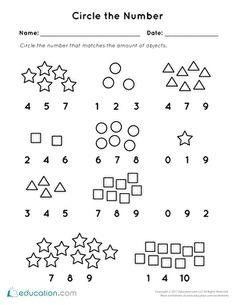 Circle the Number | Worksheet | Education.com