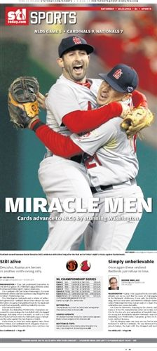 2012 Cardinals National League Division Series Win Poster