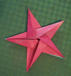How to make a five pointed star with pentagon shaped origami paper