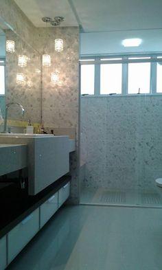 Silestone - Pendente - Revestimentos. Banheiro - Residência L. Donatti