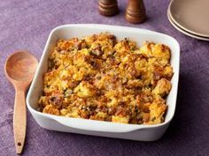 Food Network: Caramelized Onion and Cornbread Stuffing by Tyler Florence.