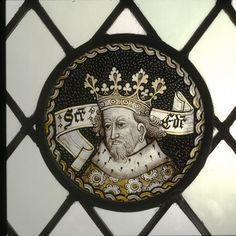 If the roundel was originally from the area near Bury St Edmunds, it is likely that the saint depicted was St Edmund himself. St Edmund was a king of East Anglia who was killed by pagan Danish invaders in 870. He was about 30 when he died. He is usually shown with the arrow or arrows with which he was killed.  However, the saint in this roundel is depicted as an elderly man and there is no attribute. There is a possibility that it represents St Edward the Confessor. St Edward was King of…