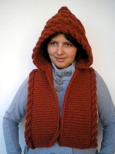 15CHRISTMAS Lady Marion Spice Brown Hood Super Soft by NonnaLia