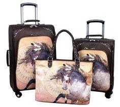 3 Piece Luggage Set - Equine Art Inspired Luggage | Luggage