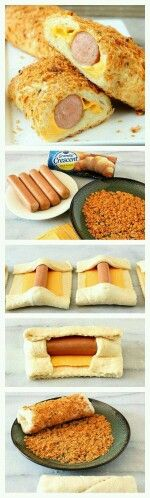 Hot dog wraps