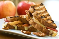 Roasted Apples, Brie & Pecan Panini.  I made this tonight....SO yummy!  I put a little Apple Butter on mine too!