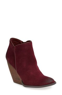 I love a wedge!  And this color is great - Burgundy Very Volatile 'Whitby' Demi Wedge Bootie