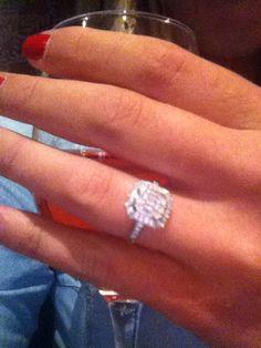 7b51f66db53 Beaverbrooks diamond cluster engagement ring
