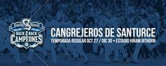 Consigue tus boletos para la temporada 2016-2017 de los Cangrejeros de Santurce hoy en Ticket Center bit.ly/Cangrejeros