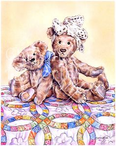 Meadow Cottage Bears : Country Quilt Bears © Copyright Christine Haworth Designs