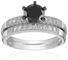 https://ariani-shop.com/10k-white-gold-black-and-white-diamond-engagement-ring-133-cttw-g-h-color-i2-i3-clarity 10k White Gold Black and White Diamond Engagement Ring (1.33 cttw, G-H Color, I2-I3 Clarity)
