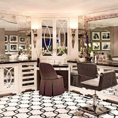 @krisjenner's #beautyroom #glamroom #makeup #hollywoodglam #krisjenner #kuwtk #clientlove #interiordesign #masterbath