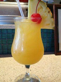 Jamaican Cowboy - 1/2 oz coconut rum 1/2 oz Peach schnapps 1 oz clear tequila 1 1/2 oz pineapple juice 1 1/2 oz orange juice 1 1/2 oz triple sec