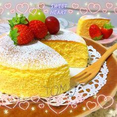超簡単!材料3つで作るシュワシュワスフレチーズケーキ