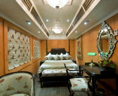 Royal Rajasthan On Wheels Vibrant Colors, Colours, Train Tour, India, Contemporary, Luxury, Wheels, Bed, Table