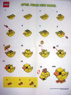 LEGO Store MMMB April '10 - Chick (Instructions) | Flickr - Photo Sharing!