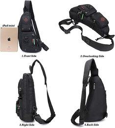 Amazon.com   Sling Backpacks, Sling Chest Bags Shoulder Fanny Pack  Crossbody Bags for e72ffb4e64