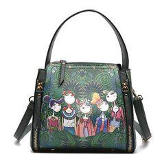 Women Bohemian Forest Print Crossbody Bags Travel Handbags Travel Handbags 8e2a32fee6e34