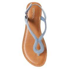 Women's Davinia Thong Sandals Merona - Blue 9.5