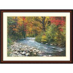 'Forest Creek (i)' Framed Art Print 43 x 32-inch