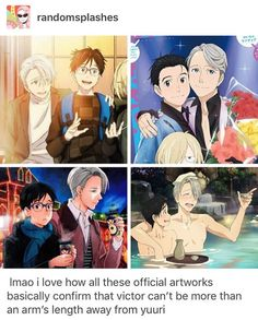 Victor's always touching yuri and it's super duper cute Yuri On Ice, All Anime, Manga Anime, Yato X Hiyori, Katsuki Yuri, ユーリ!!! On Ice, Anime Ships, Fujoshi, Ice Skating