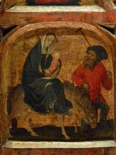 ALLEMAGNE,15e - Scènes de la Vie de la Vierge, l'Enfance du Christ - Détail 44 - Fuite en Egypte - Flight into Egypt -