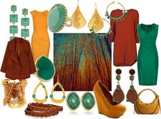 """""""Zyla colours for Sasha BSp SD - Dramatic (jade turquoise), Energy (golden rust) & Tranquil (golden yellow)"""" by emily-bsp-fn on Polyvore:"""