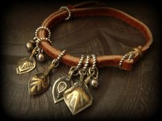 Kuchi, Turkoman, Gypsy, Vintge Nomad, Adjustable Leather Wrap Bracelet