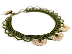 crochet necklace #crochetnecklace