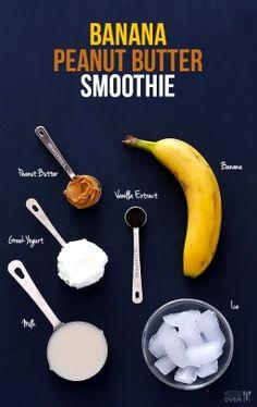 Peanut Butter Banana Smoothie Recipe   gimmesomeoven.com