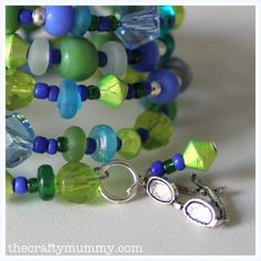 Memory wire bracelet with tutorial #beading #crafts