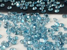 1 CTW Swiss Blue Topaz Stones 3mm Swiss Blue by gemsforjewels