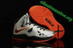 Lebron 10 Kids Shoes For Sale Mango Booed Silver Orange