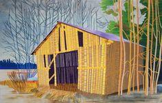 Kevät Helsinki, Illustration, Cabin, Landscape, House Styles, Artwork, Paintings, Artists, Home Decor
