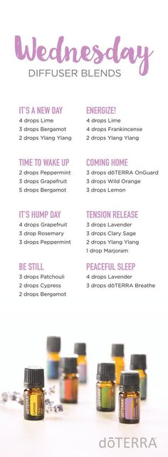 Wednesday, aka Hump Day. It's one of the best days of the week to get stuff done. It's also right during the middle of the week, when last weekend is a faint memory and the coming weekend is too far ahead to look forward to too much. Let these doTERRA Wednesday diffuser blends help you ... Read More about doTERRA Wednesday Diffuser Blends