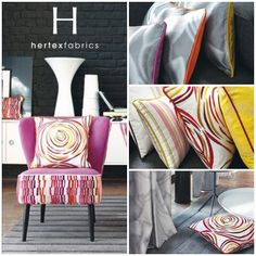 Range: Camengo - Osmose The creative energy of Osmose can be found in its rounded patterns. pinned with Pinvolve Hertex Fabrics, Flower Arrangements, Beach House, Interior Decorating, Presentation, Chairs, Canning, Patterns, Creative