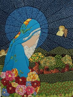 Painel Virgem Maria (patch Work em polietileno) By Mara Morelli/SP