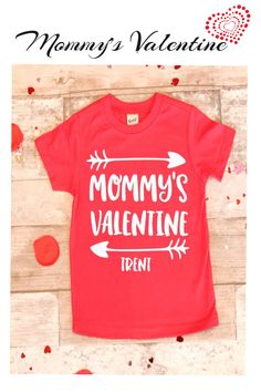 Mommy's Valentine Monogramed Name Shirt, Unisex Valentines Day shirt, Toddler Boy Valentine Shirt, Girls Valentine Shirt,Boy Valentine Shirt #affiliate