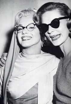 Marilyn with Lauren Bacall