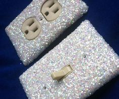 Glitter switchplate covers are the ideal way to give your plain home a fabulous makeover without breaking the bank. Every inch of these custom switchplates feature a luxurious glitter coating designed to turn them into the focal point of any room. Switch Plate Covers, Light Switch Plates, Light Switch Covers, Room Ideas Bedroom, Bedroom Decor, Neon Bedroom, Silver Bedroom, Bedroom Crafts, Girls Bedroom