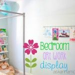 My daughter loves to color so I made a bedroom artwork display on the wall in her room to display her one of a kind pieces. Bedroom Artwork, Kids Bedroom, Artwork Display, Daughter Love, Anna, Children, Color, Home Decor, Young Children