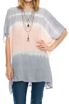 Apricot Two Tone Tie Dye Wide Fit Blouse Shirt – Jubilee Couture