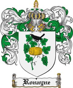 Ronayne Coat of Arms Ronayne Family Crest Instant Download - for sale, $7.99 at Scubbly